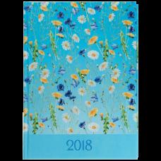Щоденник датований 2018 PROVENCE, A5, 336 стр. голубий