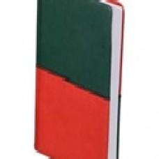 Ежедневник А5 недатированный Quattro 288 стр,зеленый с оранжевым